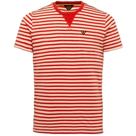 Short Sleeve R Neck Yarn Dyed Stri