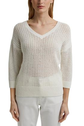 Pointelle-Pullover aus organic Cotton