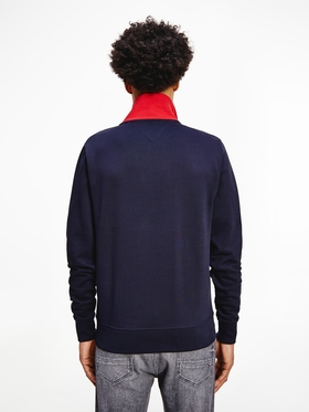 Color Block-Sweatshirt mit Reißverschluss