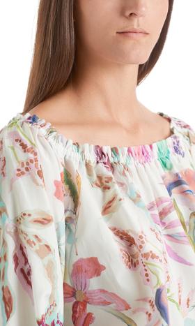 Florale Bluse aus Seidenmix