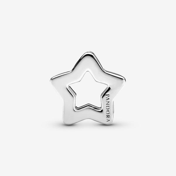 PANDORA Reflexions star silver clip char