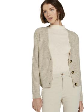 structured v-neck cardigan