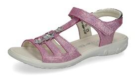 """Glitzer-Sandale """"Cleo"""" mit Blumen-Details"""