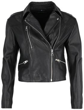 Leather jacket, biker style, croppe