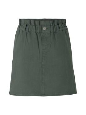 denim paperbag skirt