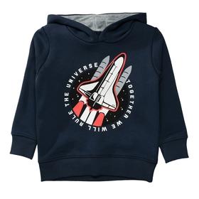 Hoodie mit Raketen-Print