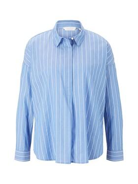 Gestreifte Tunika Bluse aus Bio-Baumwolle