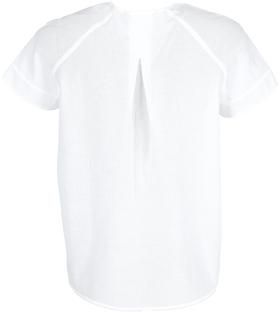 Blouse, short sleeve, deep v-neck,