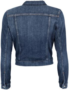 Denim Jacket, button closure, long