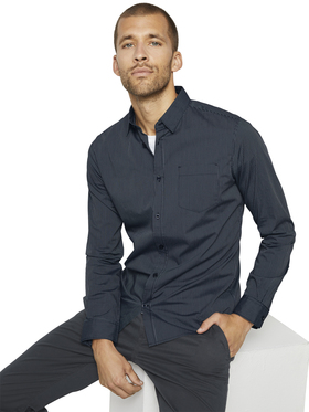 fitted easycare shirt stretch