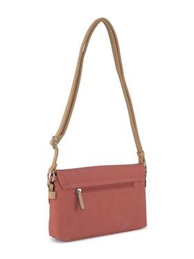CLARA Flap bag, coral