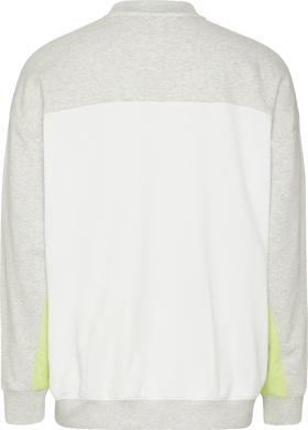 Color Block-Sweatshirt mit Rundhalsausschnitt