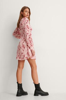 Midi Puffärmel Kleid