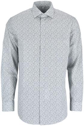 Bügelleichtes Popeline Business Hemd in Regular mit Kentkragen