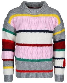 Pullover mit mehrfarbigen Streifen