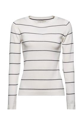 Streifen-Pullover aus 100% Organic Cotton