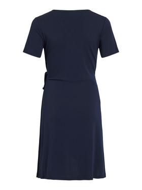 VINAYELI S/S KNEE WRAP DRESS/SU - NOOS