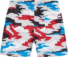 Mittellange Badeshorts mit Camouflage-Print