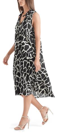 Bedrucktes Kleid aus Leinenmix