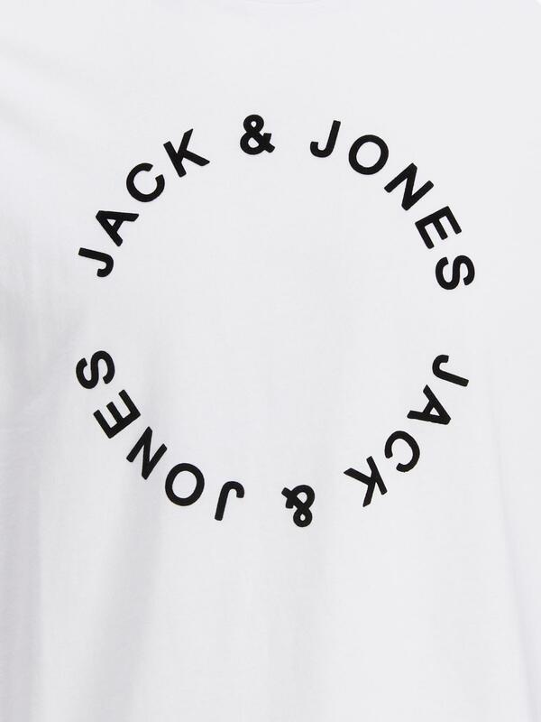 JJCIRCLE FLOCK TEE SS CREW NECK