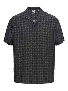 Bowlingkragen Kurzarmhemd