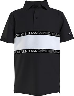 Polo-Shirt mit Color-Blocking
