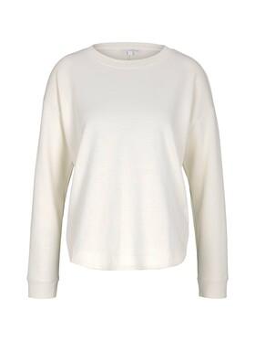 Loose Fit Sweatshirt mit Rundhalsausschnitt