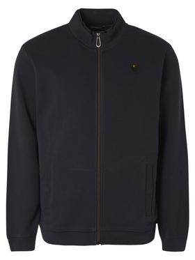 Sweater Full Zip Double High Neck Stretch