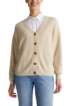 Cardigan mit Struktur und Bio-Baumwolle