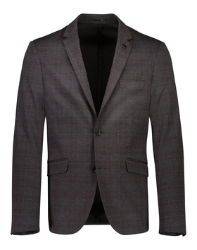 Knitted checked blazer