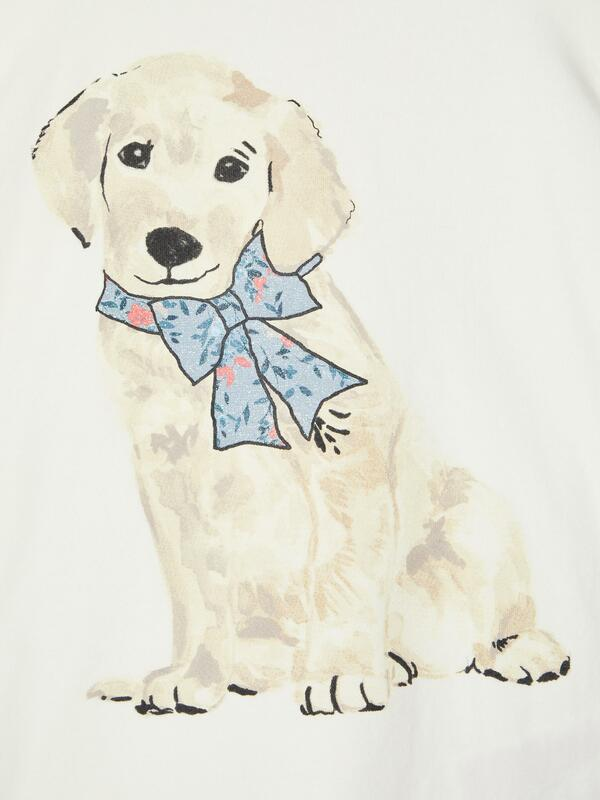 Longsleeve mit Hunde-Print