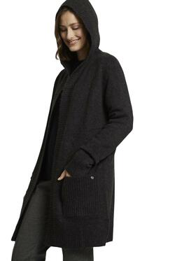 cosy hood cardigan