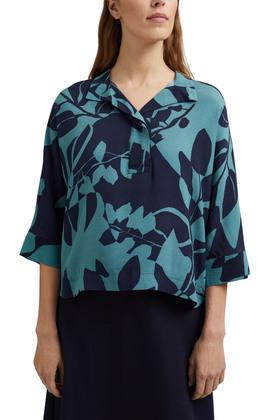Bluse mit Botanik-Print und LENZING™ ECOVERO™