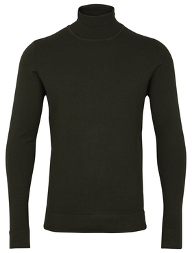 Merino knit roll-neck
