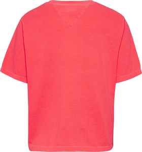 Cropped Fit T-Shirt mit Logo-Tape