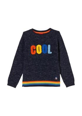 Pullover mit bestickter Aufschrift