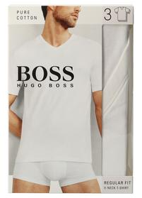 Dreier-Pack T-Shirts aus Baumwolle mit V-Ausschnitt
