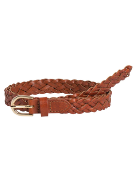 PCAVERY LEATHER BRAIDED SLIM BELT NOOS