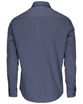 Langarmhemd mit modernen Streifen