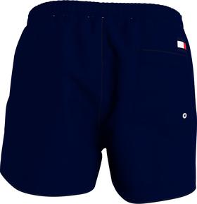 Mittellange Slim Fit Color Block-Badeshorts