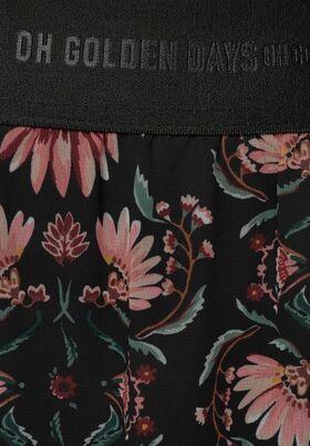 Chiffon-Midirock mit Blumen