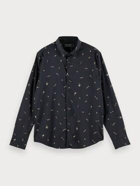 Bedrucktes Shirt aus Bio-Baumwolle im Regular Fit