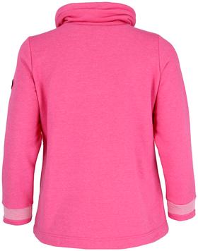 Sweatshirt mit Crossover-Kragen
