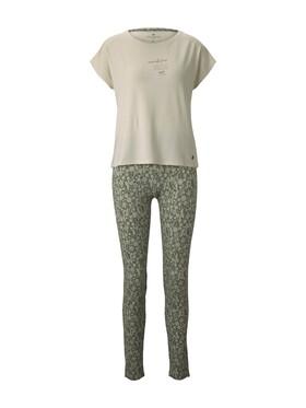 Pyjama, Rundhals, offen