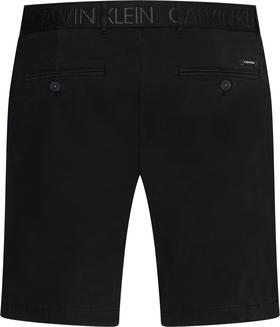 Schmale Shorts aus Bio-Baumwolle mit Gürtel