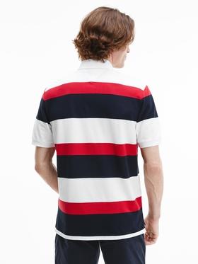 Baumwoll-Polo-Shirt mit Color Block