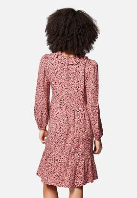 Midi-Kleid mit Volants