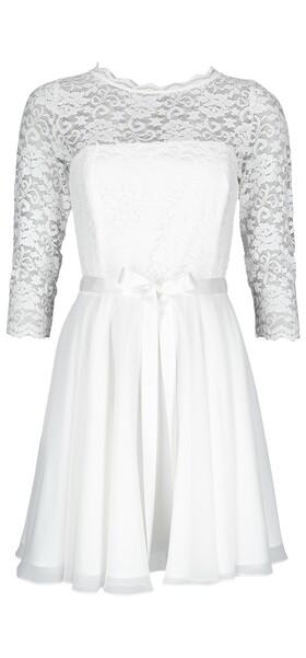 Spitzen Chiffon Kleid