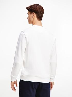 Rundhals-Sweatshirt mit gleichfarbiger Flag