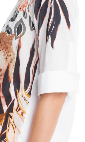 Baumwoll-Blusenshirt mit Gepard